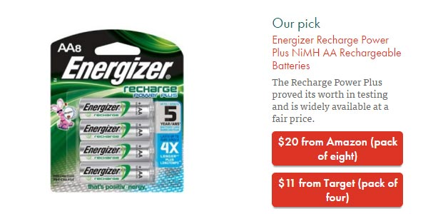 go to http://thewirecutter.com/reviews/best-rechargeable-batteries/