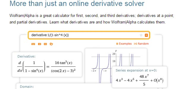 go to http://www.wolframalpha.com/calculators/derivative-calculator/