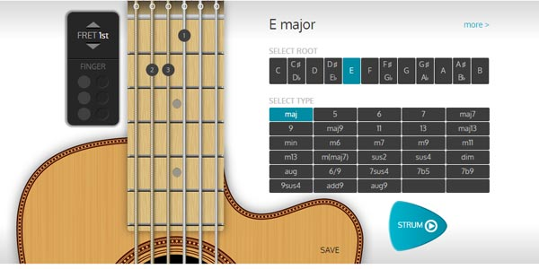 go to http://chordbook.com/guitar-chords/