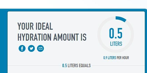 go to http://www.camelbak.com/en/HydratED/HydrationCalculator.aspx