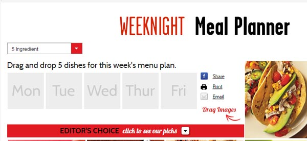 go to http://www.cookinglight.com/weeknight-meal-planner