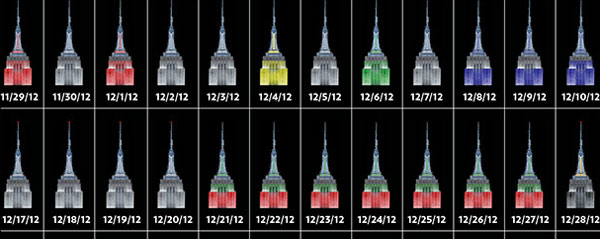 go to http://nymag.com/news/intelligencer/topic/empire-state-building-lights-2013-4/