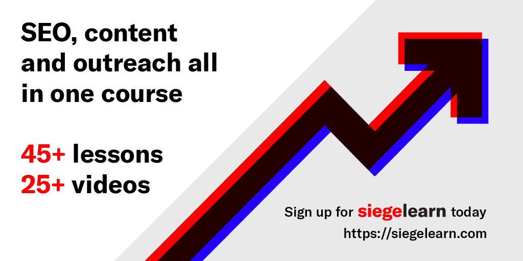 SEO, content and outreach all in one course. Learn more about our course!