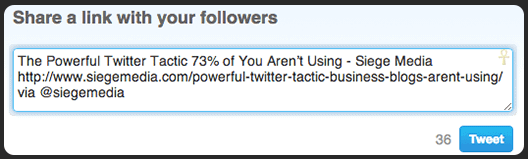 The Powerful Twitter Tactic 73% of You Aren't Using - Siege