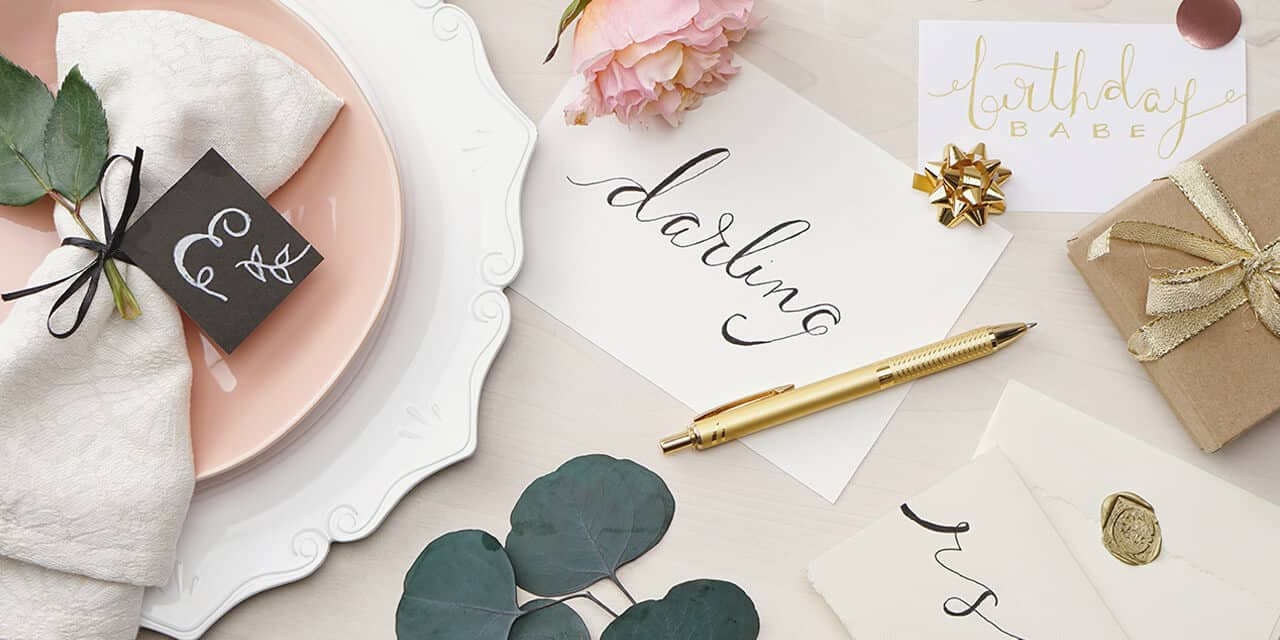 calligraphy on placecard