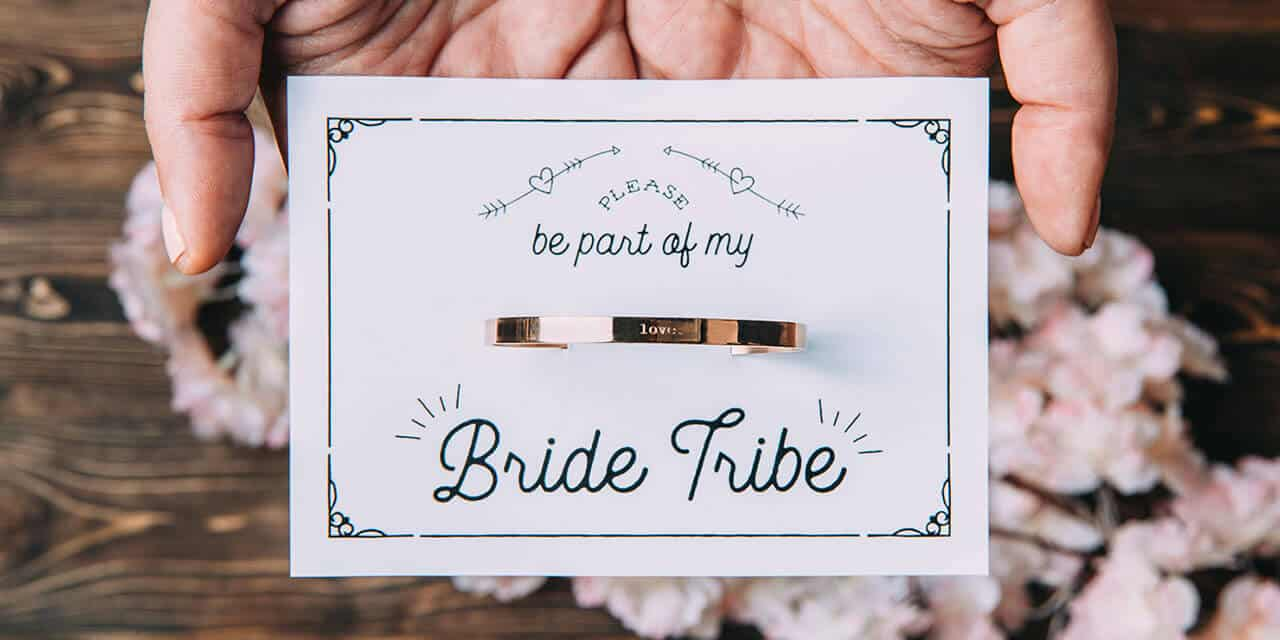 bride tribe bridesmaid invitation