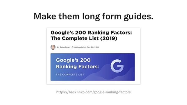 backlinko's 200 google ranking factors