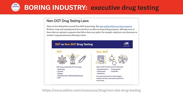 ebi inc non dot drug testing example
