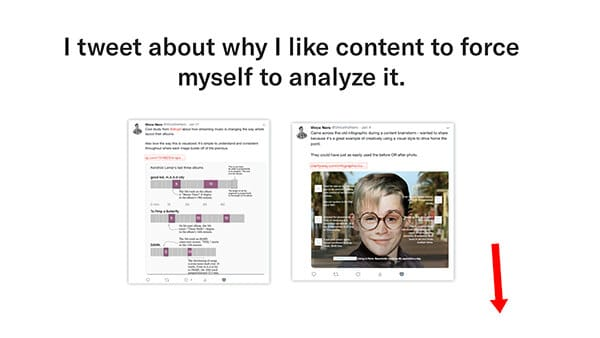 force yourself to analyze content
