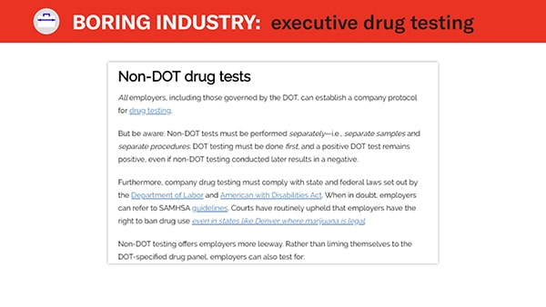 non dot drug testing example 2