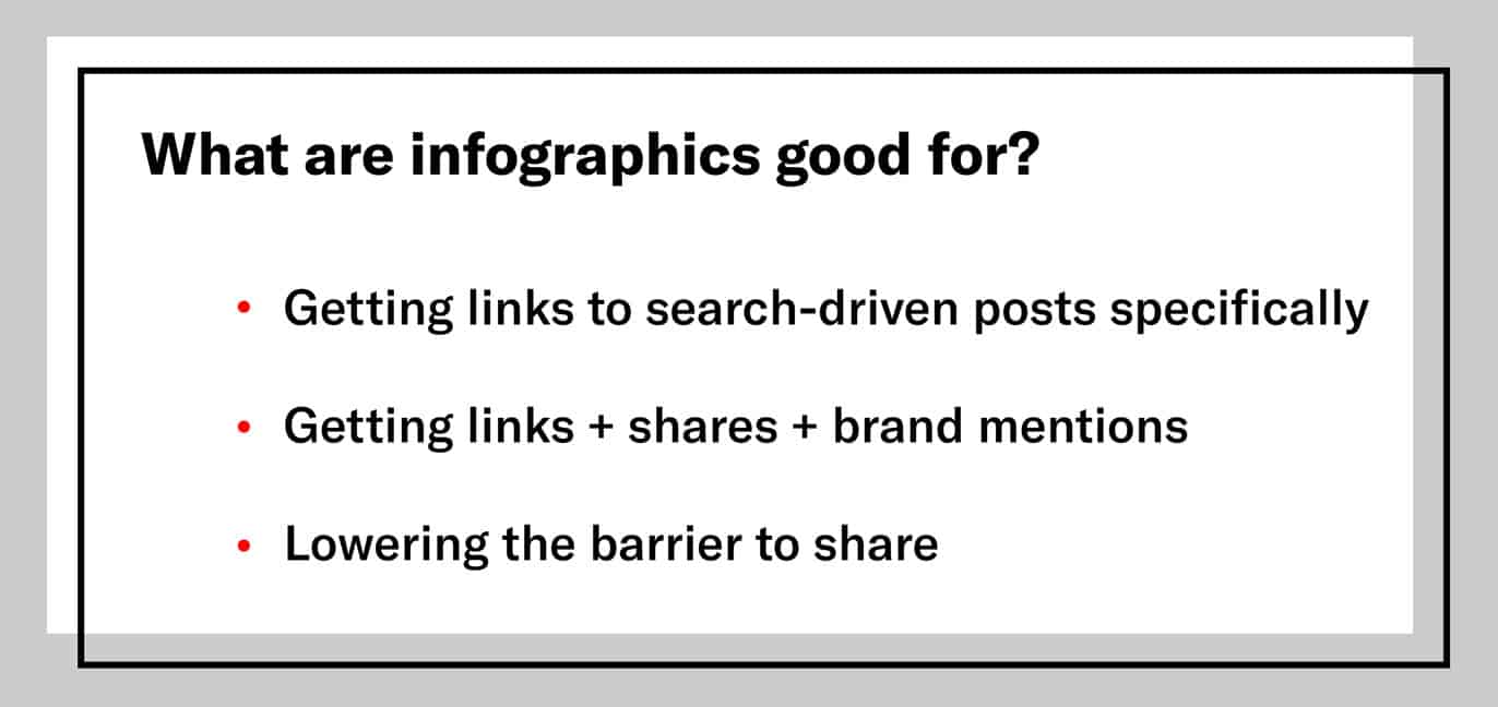 3 things infographics are good for