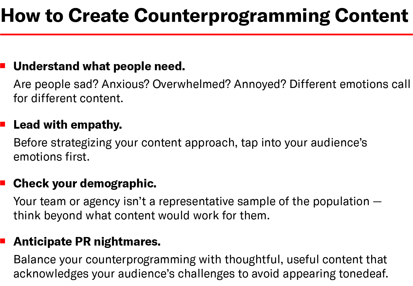 Chart: How to Create Counterprogramming