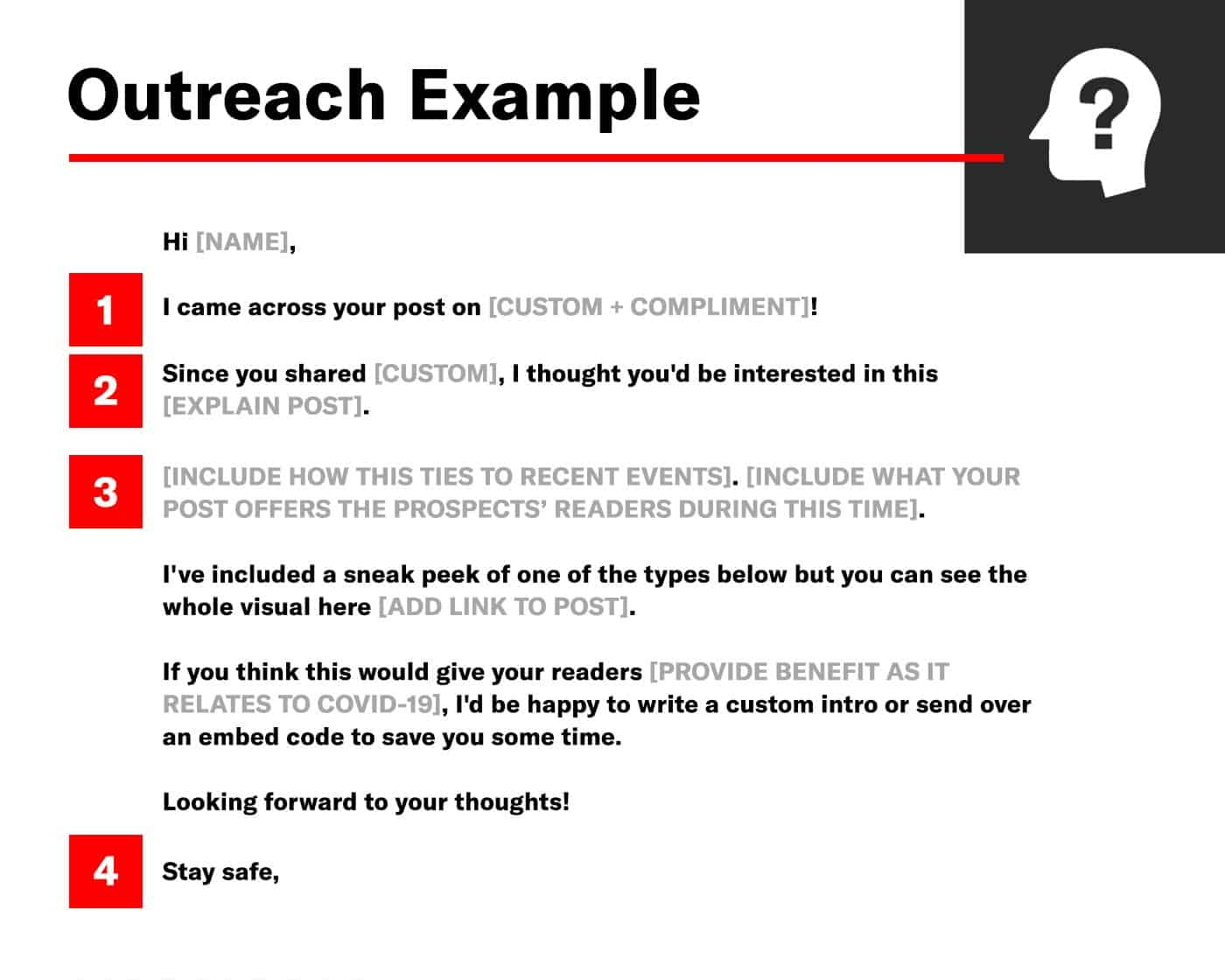 link building outreach template example with call outs