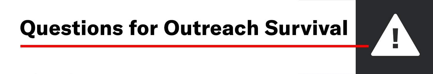 questions for outreach success
