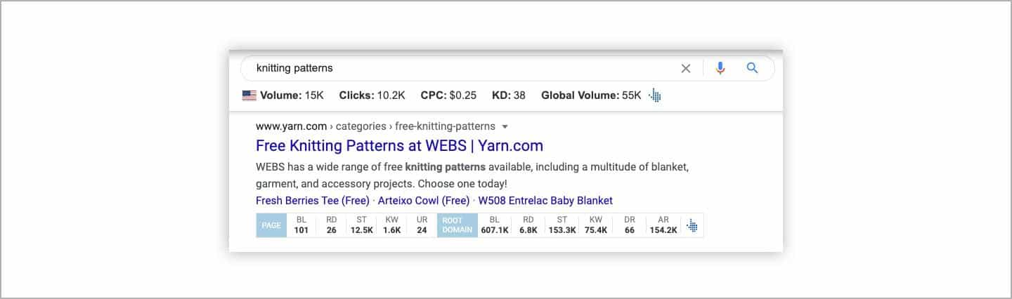 Ahrefs SEO Toolbar