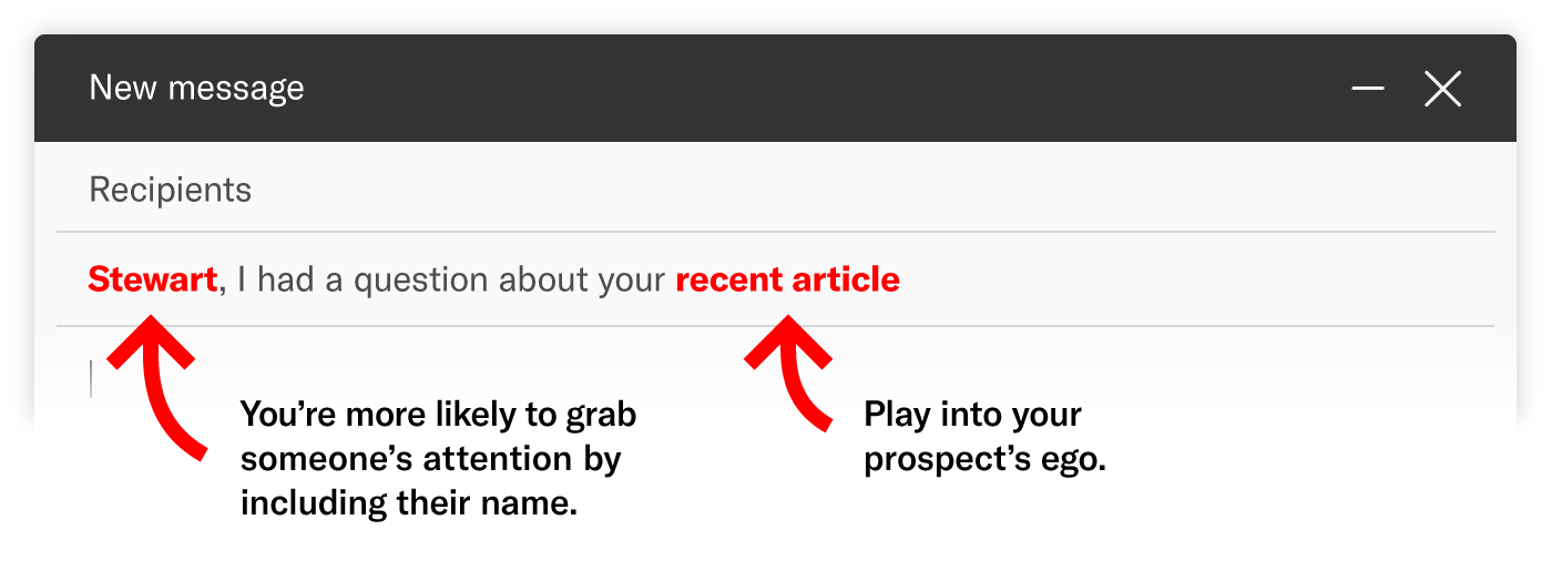 personalized subject line example