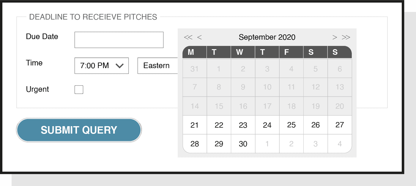 how to set a deadline using HARO