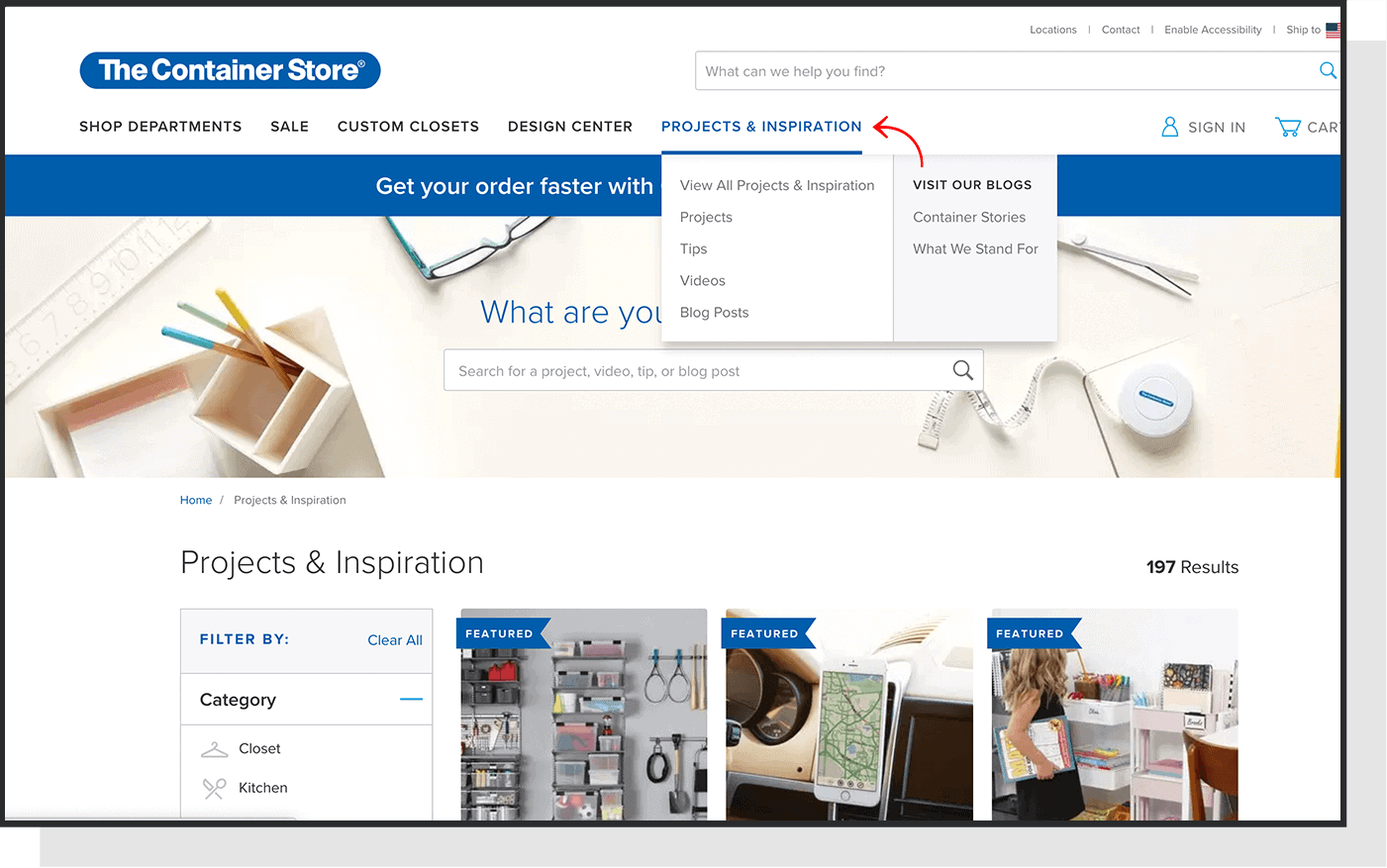 container store nav