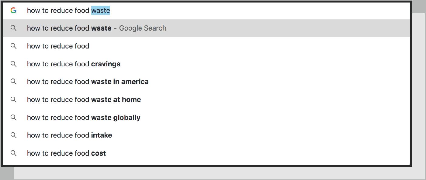 Keyword search screen shot