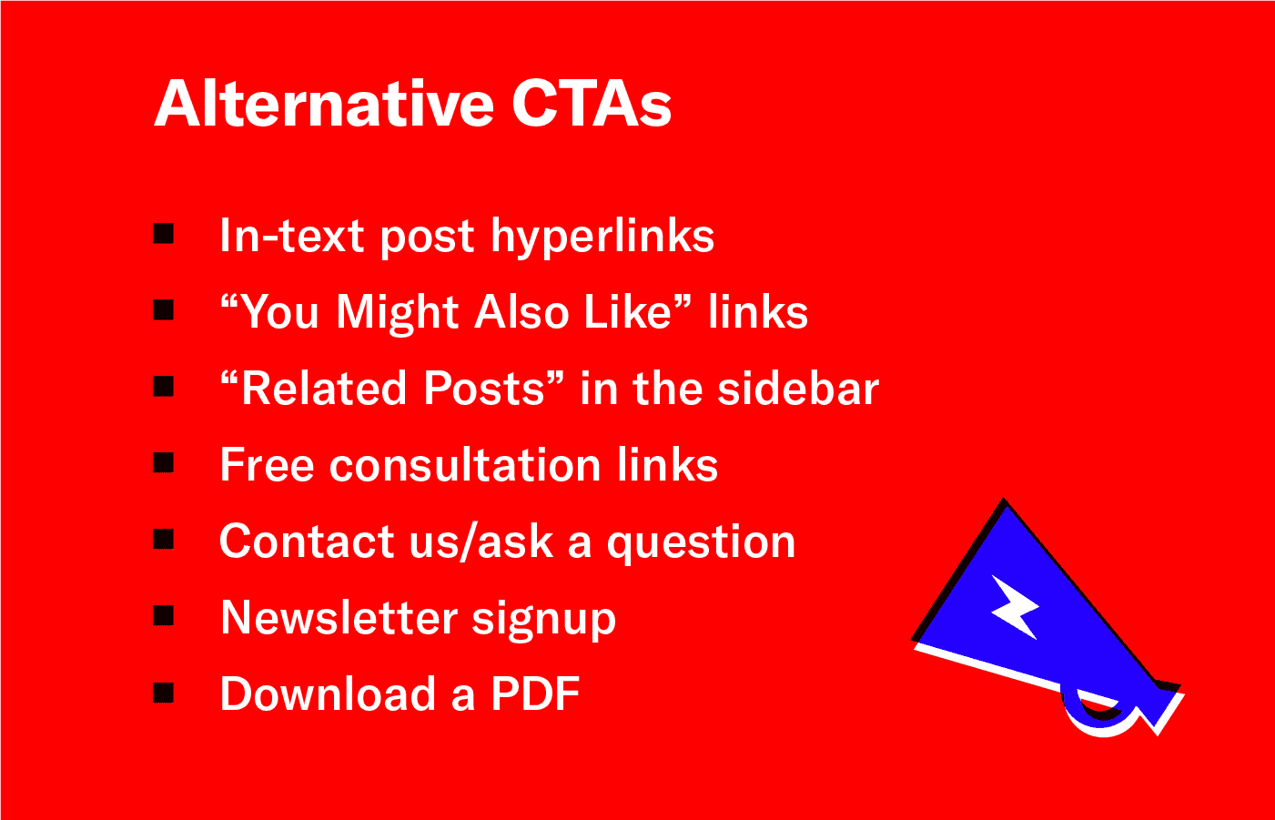 A list of alternative CTA examples.