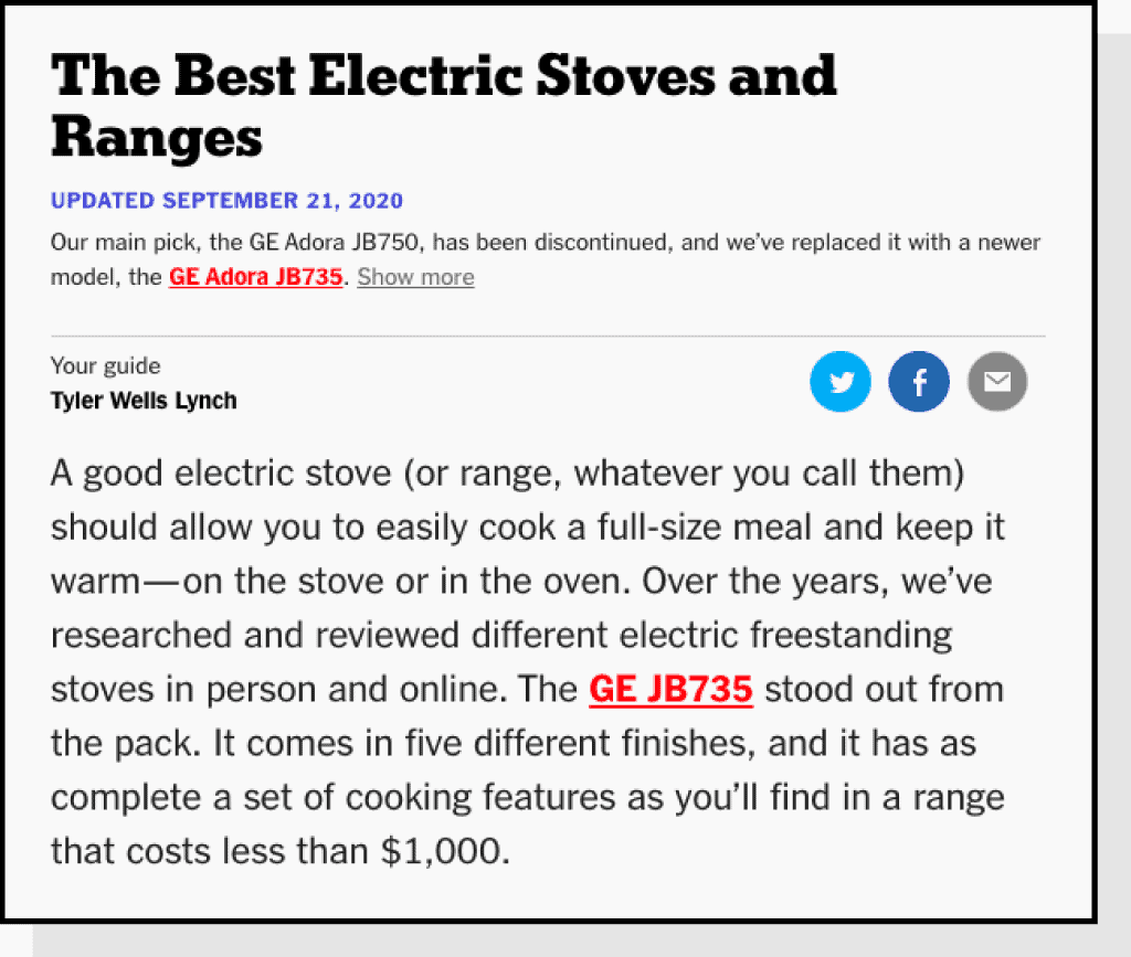 best electric stoves