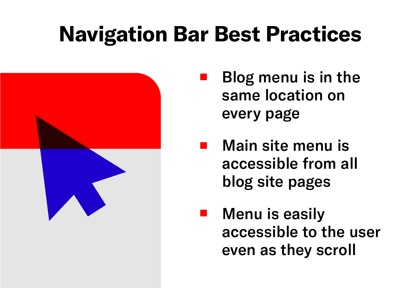 A breakdown of best practices for creating a blog navigation bar.